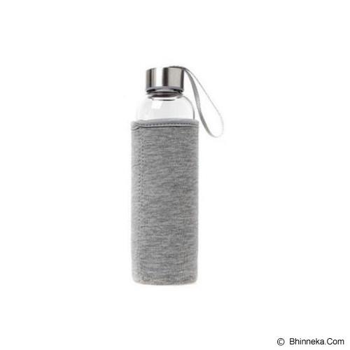 PIXEL99 Borosilicate Glass Bottle 550ml - Abu Abu - Botol Minum
