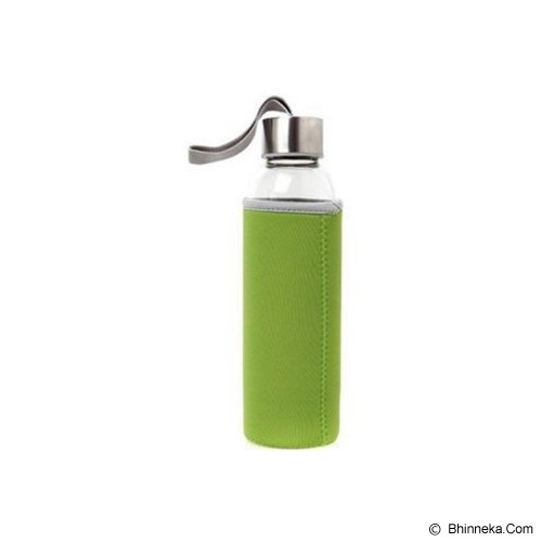 PIXEL99 Borosilicate Glass Bottle 550ml - Hijau - Botol Minum