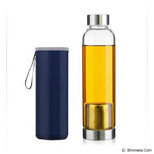 PIXEL99 Infuser Bottle 420ml - Navy - Botol Minum