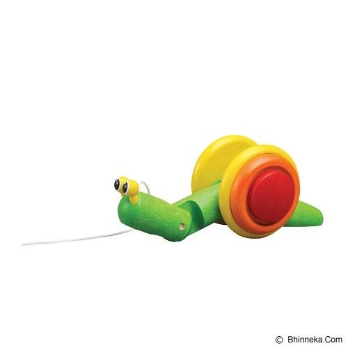 PLAN TOYS Pull Along Snail [PT5108] - Mainan Simulasi