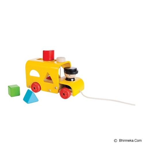 PLAN TOYS Sorting Bus [PT5121] - Mainan Simulasi