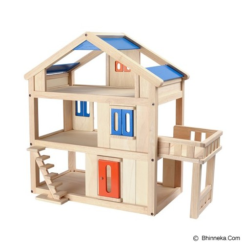 PLAN TOYS Terrace Dollhouse [PT7150] - Mainan Simulasi
