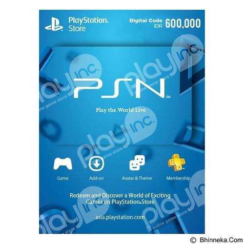 PLAYSTATION NETWORK VOUCHER IDR 600.000 (Merchant) - Voucher Games