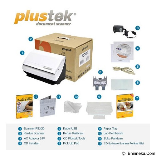 PLUSTEK SmartOffice PS30D + Software LJK - Scanner Multi Document