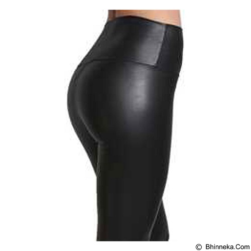 POCABELA Highwaist Latex Legging - Black (Merchant) - Legging Wanita