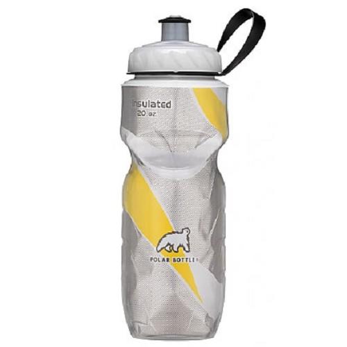 POLAR BOTTLE Water Bottle 600ml - Yellow Pattern - Sport Water Bottle / Botol Minum