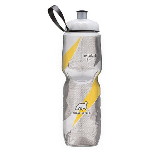 POLAR BOTTLE Water Bottle 700ml - Yellow Pattern - Sport Water Bottle / Botol Minum