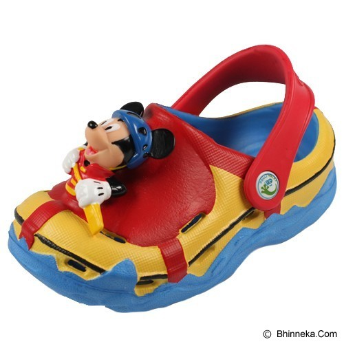 POLLIWALKS Clogs Mickey Mouse Size 8 [BZ-719] - Red - Sepatu Anak