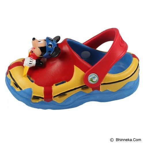 POLLIWALKS Clogs Mickey Mouse Size 9 [BZ-719] - Red - Sepatu Anak