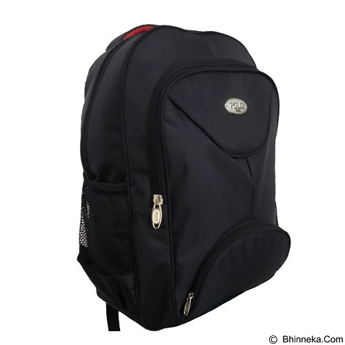 POLO Martin Backpack with Laptop Slot + Raincover - Black (Merchant) - Notebook Backpack