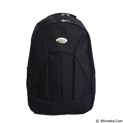 POLO USA Basic Black Laptop Backpack + Rain Cover - Black (Merchant) - Notebook Backpack