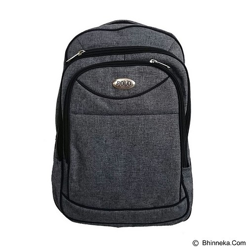 POLO USA Castilla Laptop Backpack + Rain Cover - Grey (Merchant) - Notebook Backpack