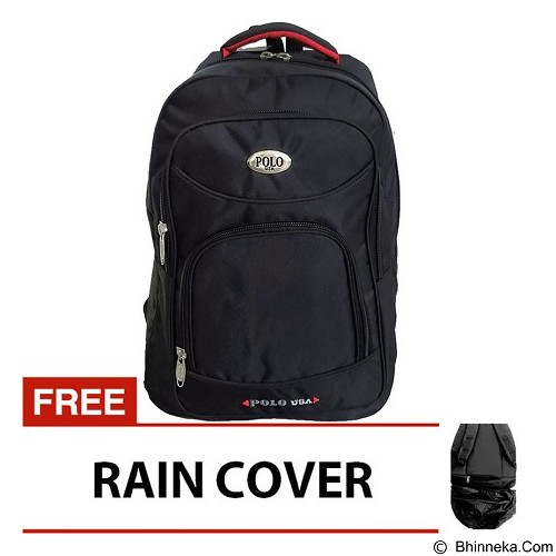 POLO USA Central Laptop Backpack - Hitam (Merchant) - Notebook Backpack