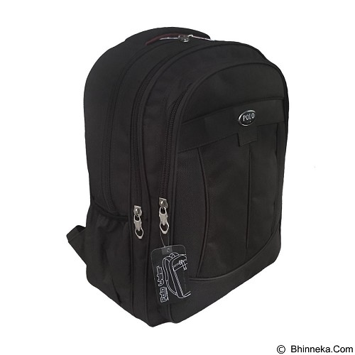 POLO USA Decker Backpack Laptop - Hitam (Merchant) - Notebook Backpack