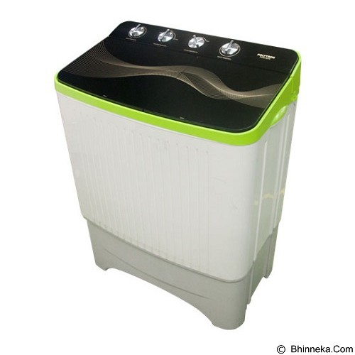 POLYTRON Mesin Cuci Twin Tub [PWM 9070] - Green - Mesin Cuci Twin Tub
