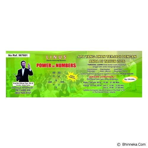 POWER OF NUMBERS Seminar Basic Kelas - Tiket & Voucher