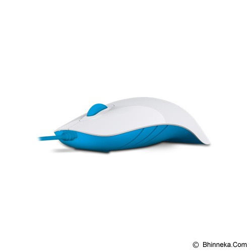 POWERLOGIC Shark - White Blue - Mouse Basic