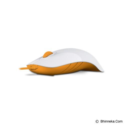 POWERLOGIC Shark - White Orange - Mouse Basic