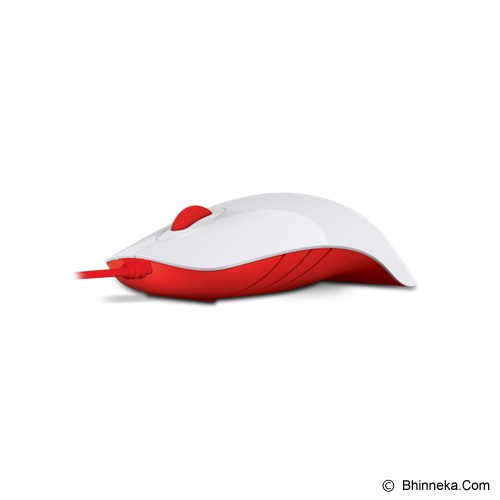 POWERLOGIC Shark - White Red - Mouse Basic