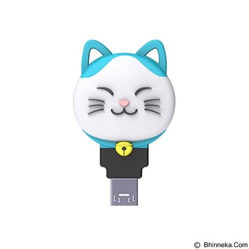 PQI Flash Drive OTG Connect 303 Karakter Kucing [DKA-C303-CAT-OTG-16G-BLE] - Blue (Merchant) - Usb Flash Disk Dual Drive / Otg