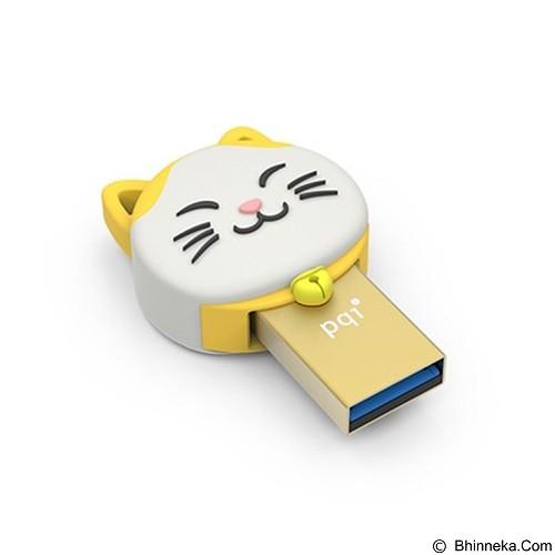PQI Flash Drive OTG Connect 303 Karakter Kucing [DKA-C303-CAT-OTG-16G-YLW] - Yellow (Merchant) - USB Flash Disk Dual Drive / OTG