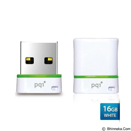 PQI Flashdisk Mini 16GB [U601L] - White (Merchant) - Usb Flash Disk Basic 2.0