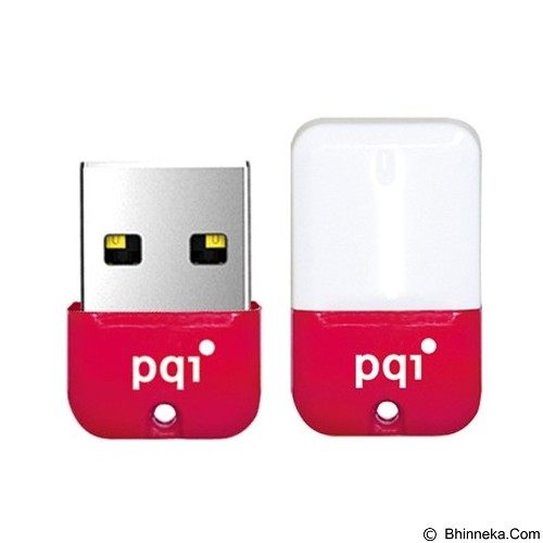 PQI Flashdisk Mini 16GB [U602L] - Red (Merchant) - Usb Flash Disk Basic 2.0
