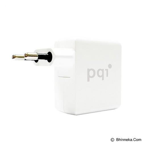 PQI Mini Charger 2 USB Port 18W - White (Merchant) - Charger Handphone