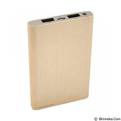 PQI Powerbank 10000mAh Polymer Battery - Gold (Merchant) - Portable Charger / Power Bank