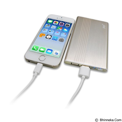 PQI Powerbank 5000mAh Polymer Battery - Gold (Merchant) - Portable Charger / Power Bank