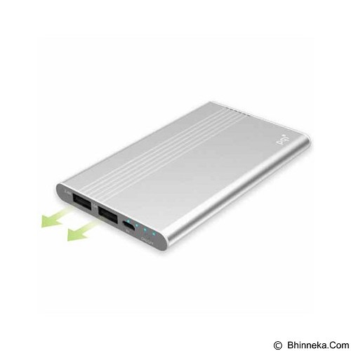 PQI Powerbank 5000mAh Polymer Battery - Silver (Merchant) - Portable Charger / Power Bank