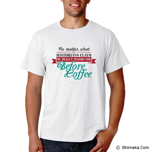 PRINT N WEAR BC Stands For Before Coffee Size XL - Kaos Pria