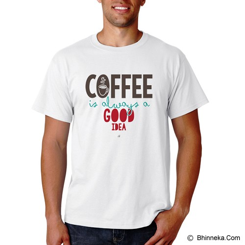 PRINT N WEAR Coffee Is Always A Good Idea Size XL - Kaos Pria