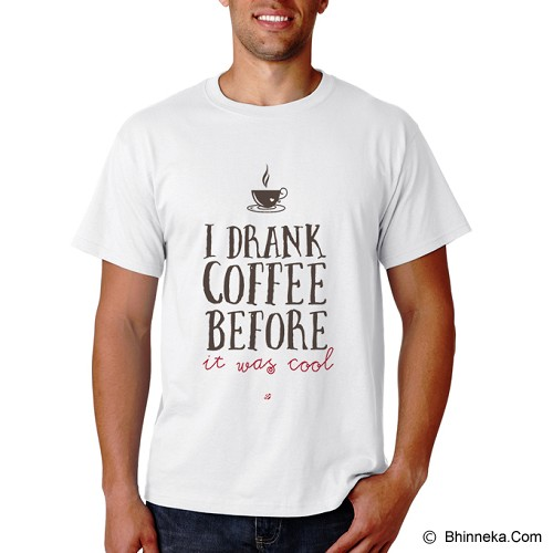 PRINT N WEAR I Drank Coffee Before It Was Cool Size XL - Kaos Pria