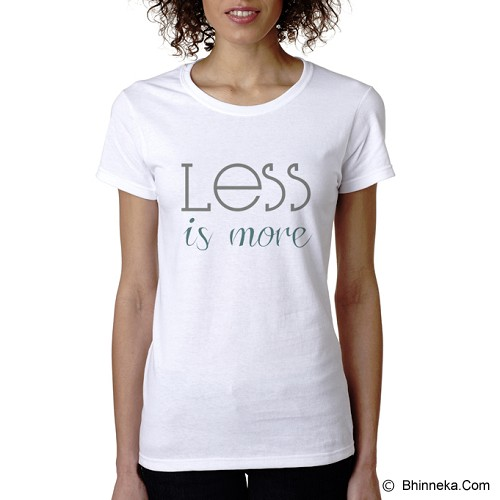 PRINT N WEAR Less Is More Size L - Kaos Wanita