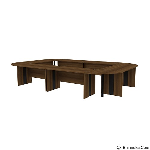 PRISSILIA Advance Meeting Table [6MD-1475+4MDJ-7575+4METALPOLE ] - Teakwood (Merchant) - Meja Kantor