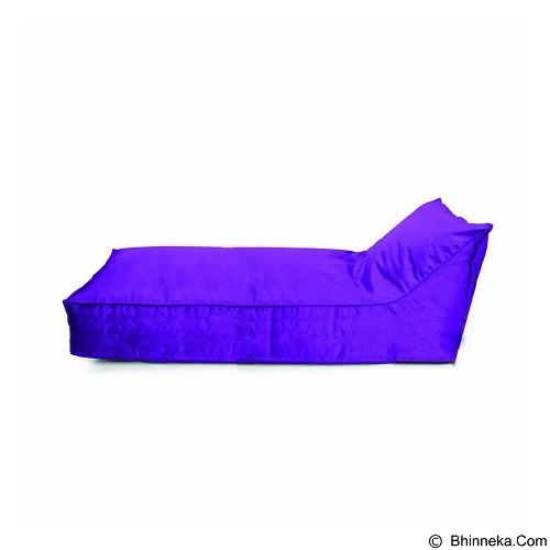PRISSILIA Bean Bag - Lounger Long Purple - Bantal Duduk / Bean Bag
