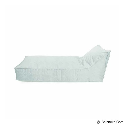 PRISSILIA Bean Bag - Lounger Long White - Bantal Duduk / Bean Bag