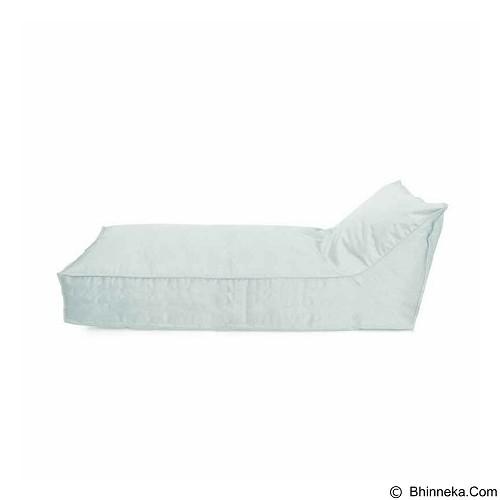 PRISSILIA Bean Bag - Lounger Long White - Bantal Duduk / Bean Bag