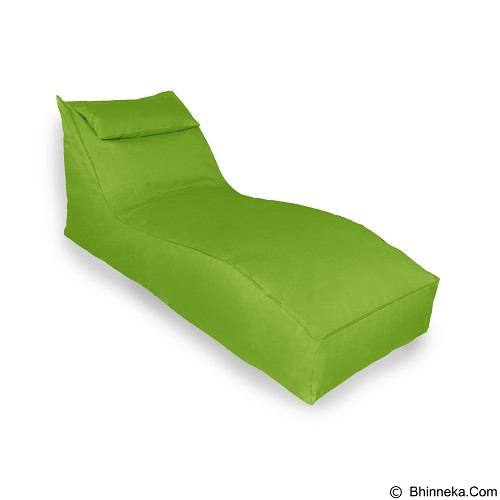 PRISSILIA Bean Bag S Lounger with Pillow - Lime - Bantal Duduk / Bean Bag