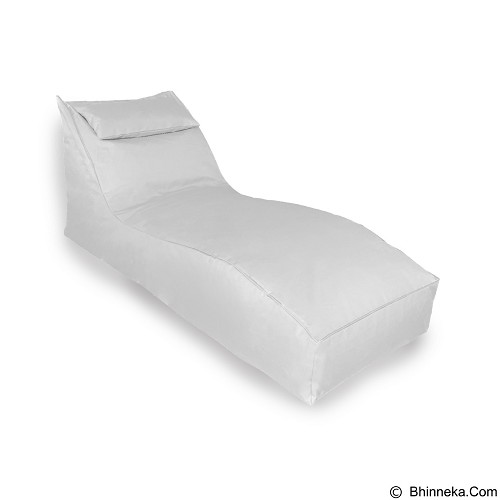 PRISSILIA Bean Bag S Lounger with Pillow - White - Bantal Duduk / Bean Bag