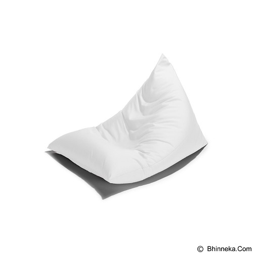 PRISSILIA Bean Bag - Triangle White - Bantal Duduk / Bean Bag