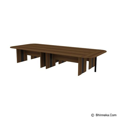PRISSILIA Intermediate Meeting Table [4MDM-1890+2MDJ-1840+2METALPOLE] - Teakwood (Merchant) - Meja Kantor