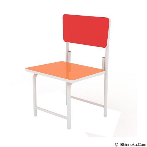 PRISSILIA Kursi Belajar [MSD-5134] - Red Orange (Merchant) - Kursi Kantor