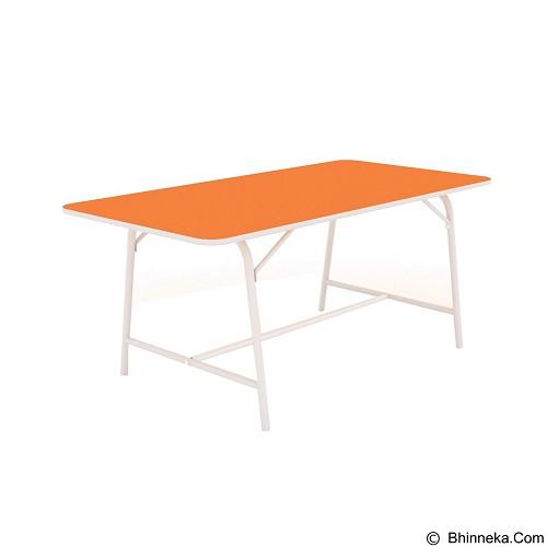 PRISSILIA Meja Belajar [MSD-5133] - Orange (Merchant) - Meja Belajar