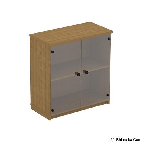 PRISSILIA Nana Cabinet W 2 Glass Doors (Merchant) - Filing Cabinet / Lemari Arsip