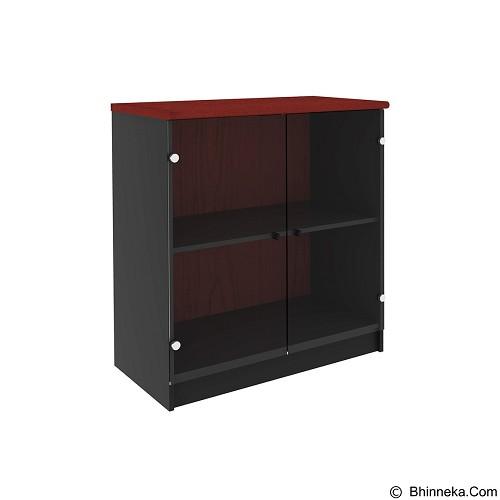PRISSILIA Necro Office Cabinet [MPR-11+MPD-80] - Mahogany (Merchant) - Filing Cabinet / Lemari Arsip