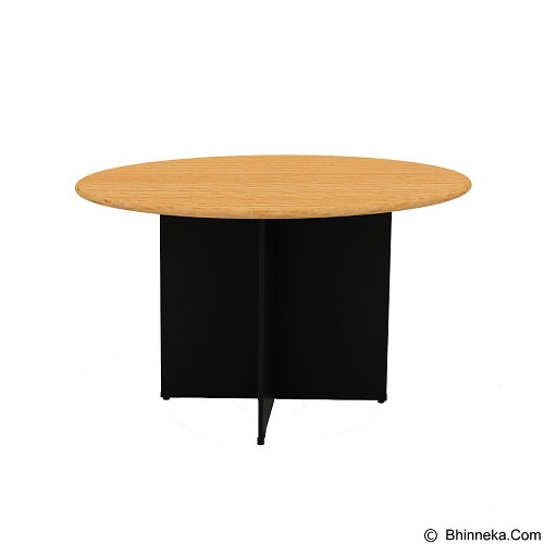 PRISSILIA Necro Round Table [MP-100R] - Beech (Merchant) - Meja Kantor