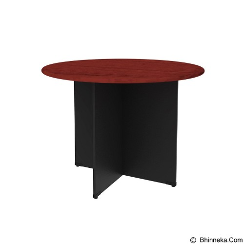PRISSILIA Necro Round Table [MP-120R] - Mahogany (Merchant) - Meja Kantor