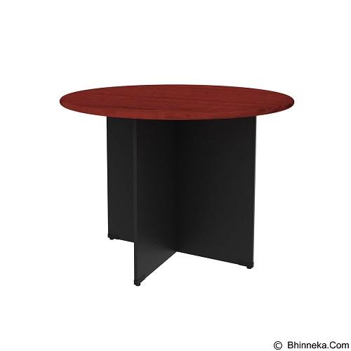 PRISSILIA Necro Round Table [MP-120R] - Mahogany (Merchant) - Meja Kantor